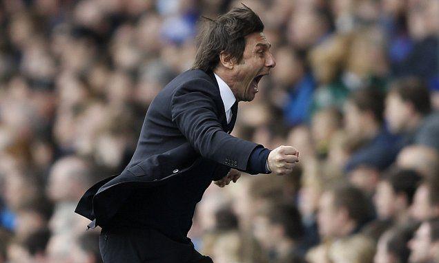 Chelsea boss Antonio Conte sheds half a stone each match