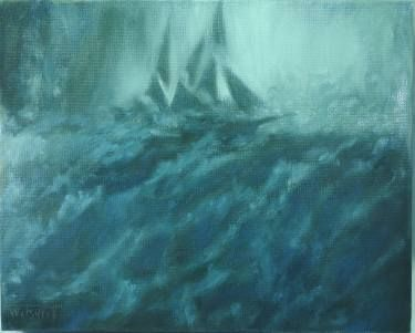 """Saatchi Art Artist Tatiana Wilson; Painting, """"Storm. Ship from film 'In the heart of the Sea'"""" #art"""