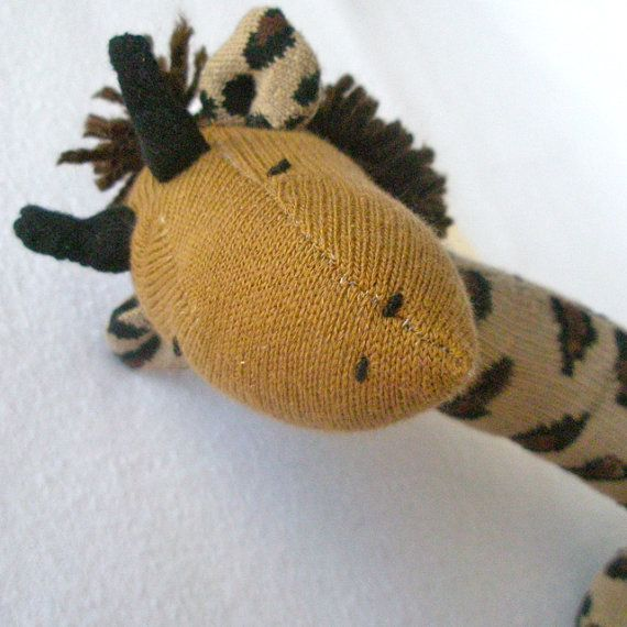 Gerry Sock giraffe  Soft plush toy by lostsockshome on Etsy, $23.00