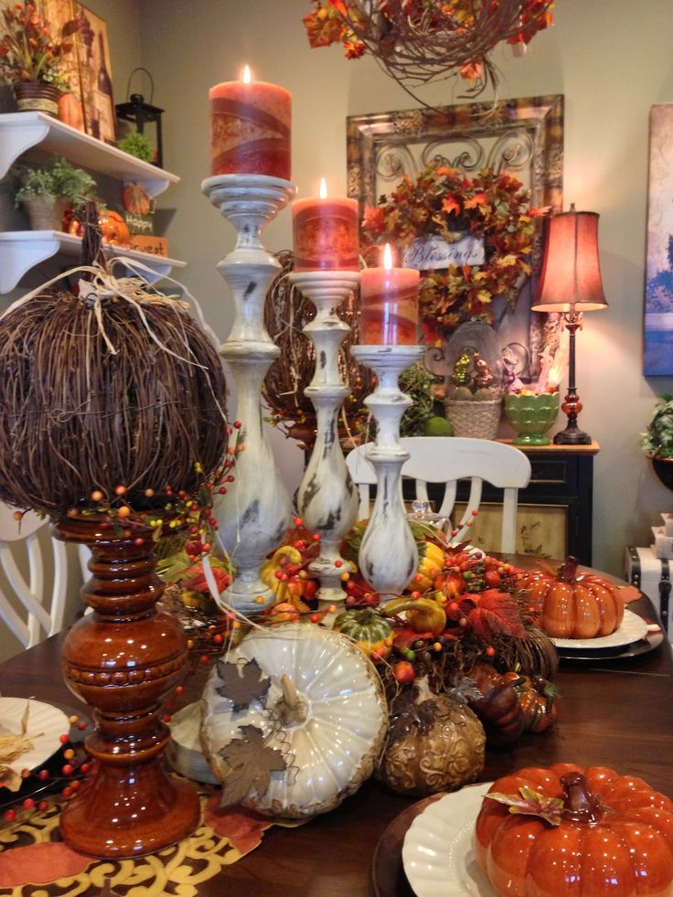 dining room in fall savvy seasons by liz - Fall Harvest Decor