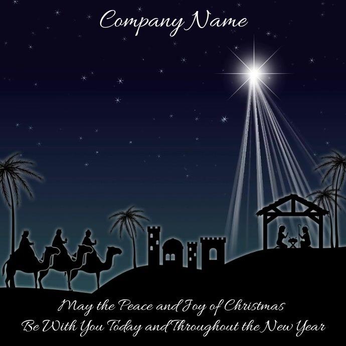 Christmas Nativity Instagram Template Digital Christmas Cards Social Media Template Instagram Template