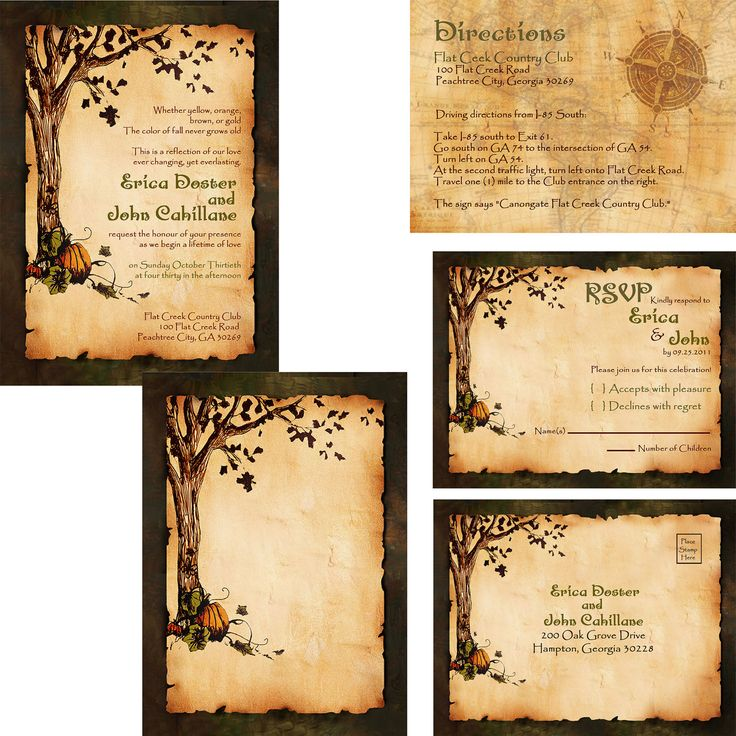 17 Best ideas about Tree Wedding Invitations – Fall Invitations for Weddings