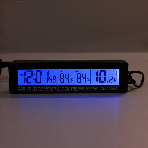 12V/24V In/Out Car Voltage Meter LCD Digital Clock Time Blue&Orange Back Light  Worldwide delivery. Original best quality product for 70% of it's real price. Buying this product is extra profitable, because we have good production source. 1 day products dispatch from warehouse. Fast...