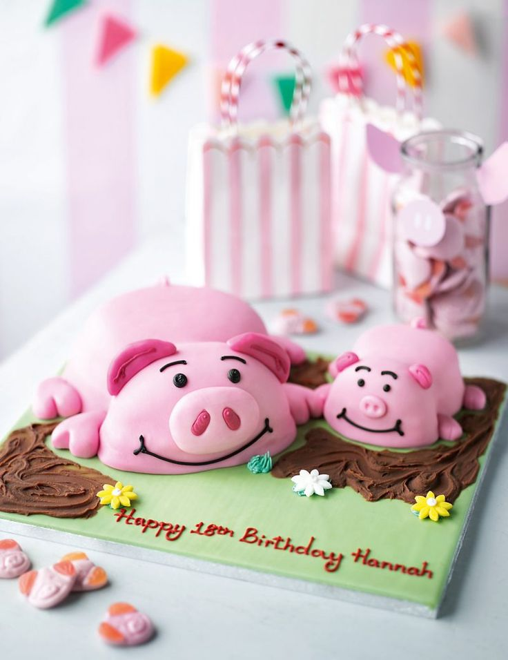 Ber ideen zu schwein geburtstagstorten auf - Kuchen ideen geburtstag ...