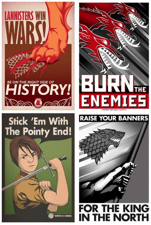 Game of Thrones propaganda posters