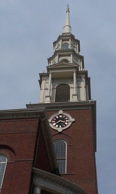 Freedom Trail in Boston Park st Church. 1809, n the past, active in anti-slavery and today, gay marriage.