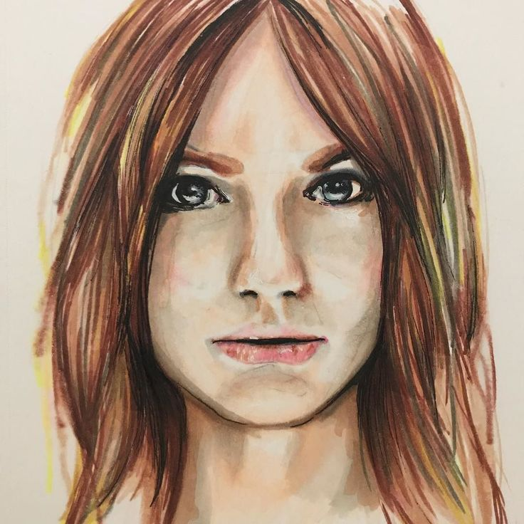 First try at Copic & Chameleon  #portrait #portraitsketch #copicmarkers #chameleonpens #markers #markerart #markersketch #face #woman #redhead #redhair #retrato #instaart #instagood #inspiration #instaartist #instaartistic #pelirroja #dibujo #arte #plumones #photoofday #artsy