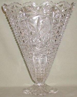 Hofbauer Byrde Crystal Large Fan Vase