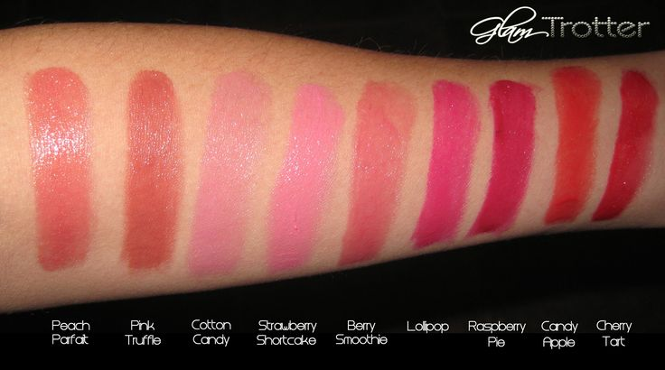 Revlon Colorburst Lip Butter Swatches  -I have Peach Parfait & Berry Smoothie..they are GREAT sheer lipsticks for fair skin tones & are super moisturizing! <3 <3