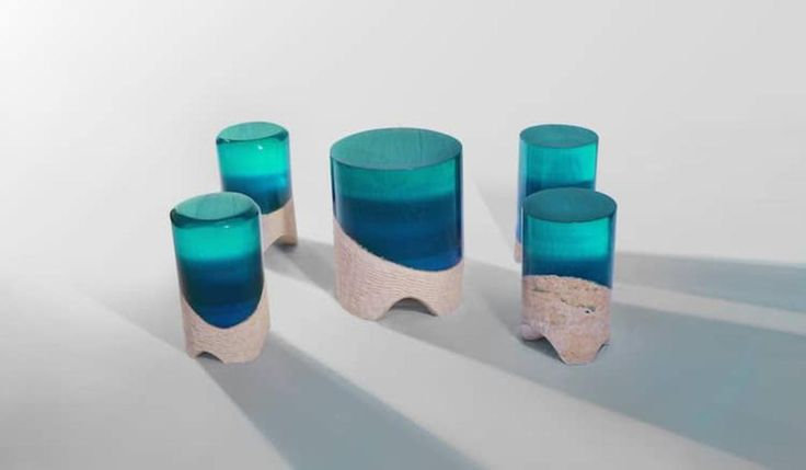 Best My Personal Work Images On Pinterest Benches And Products - Incredible layered glass table mimics oceans depths