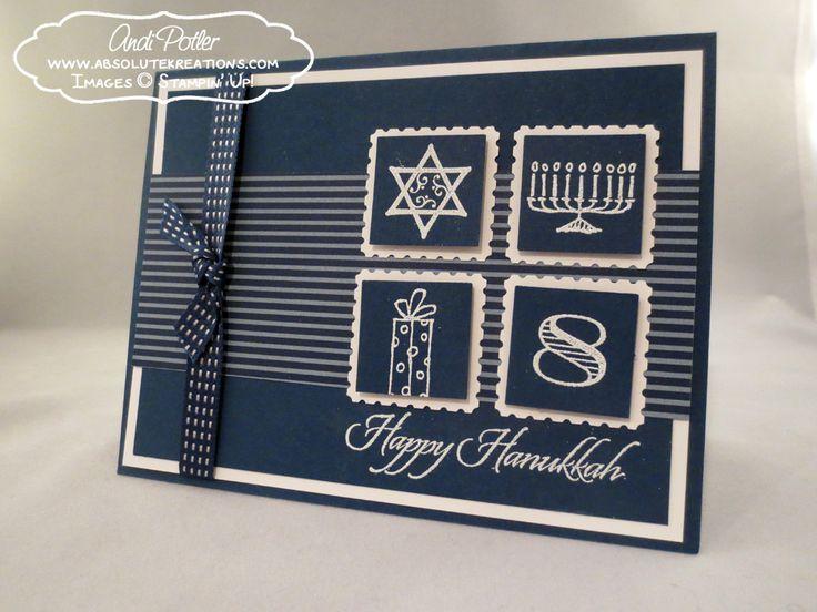 Happy Hanukkah by Andi Potler, Independent Stampin Up Demonstrator