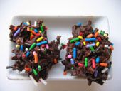 Chocolate Coconut Haystacks Fireworks Recipe - Candy for the 4th of July