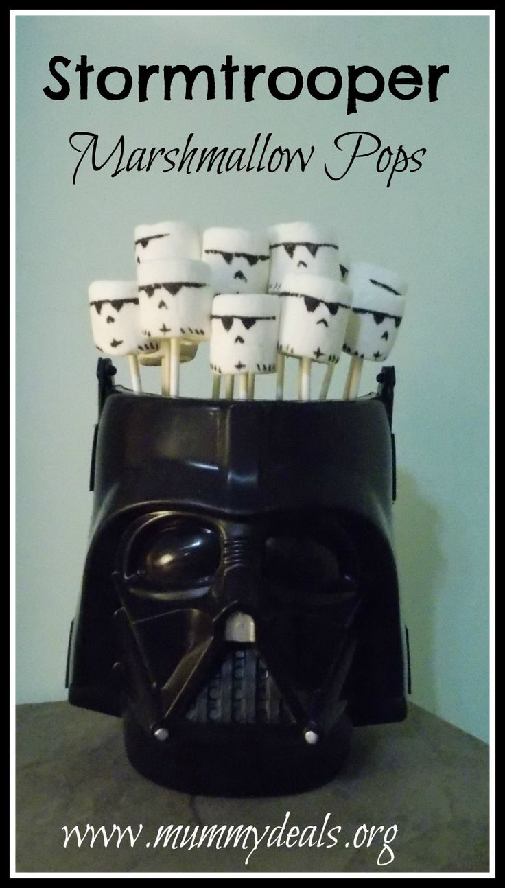 Stormtrooper Marshmallow Pops from @Clair @ Mummy Deals are a perfect snack or party idea for a #starwars fan and they're really easy to make!