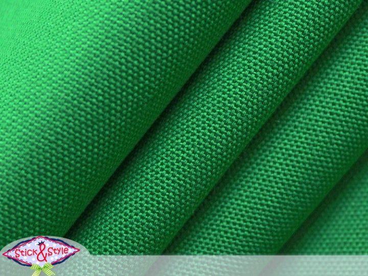 Stoff Canvas uni - mittelgrün einfarbig Baumwolle