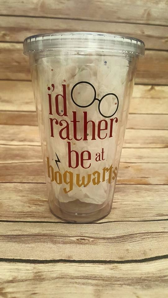 This Harry Potter Tumbler is perfect for any aspiring witch or wizard! Customized with name on back side in gold! When checking out leave name in