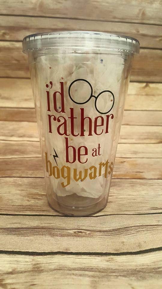 Harry Potter Tumbler - I'd rather be at hogwarts