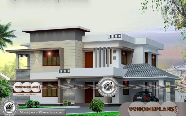 Modern Box Type House Designs With Two Story Simple Affordable Plans Kerala House Design House Designs Exterior Simple House Design