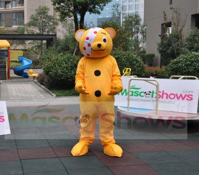 Déguisement d ours costume de mascotte d ours pudsey disco fete  http://www.mascotshows.fr/product/Costume-de-Mascotte-de-petit-ours-laid.html