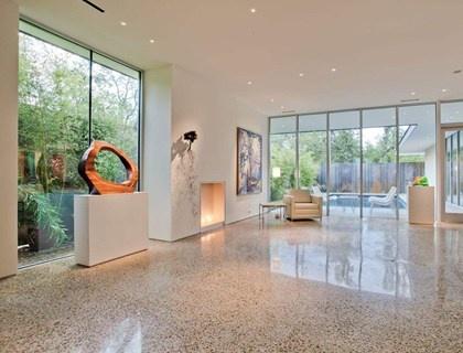 Polished concrete floor fits right into a modern design palette. Floor Rescue Dallas, TX