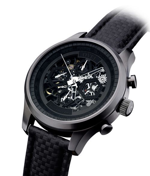New OVEL watch limited edition a hundred pieces with wonderful Swiss skeleton movement  OVEL the Black Radical (PR/Pics http://watchmobile7.com/data/News/2013/03/130309-ovel-black_radical.html) (3/4)