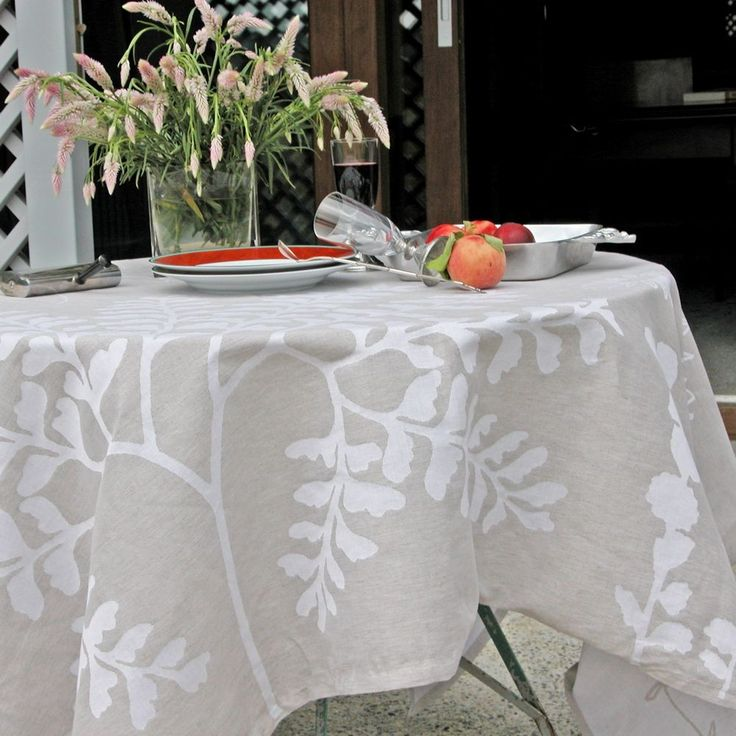 Herbier+-+Nappe+herbier+55%Coton+45%polyester,+rectangle