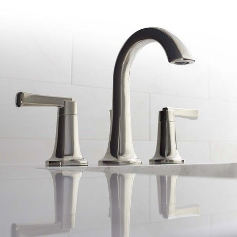 Traditional High Arc Widespread Faucet Design From @amstandard. See Details  On Modenus: Contemporary Bathroom ...