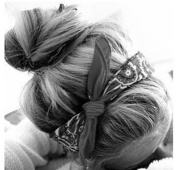 Cute bandana hairstyle