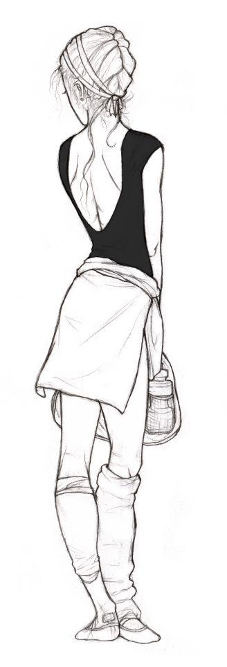 Ballerina Girl Sketch, Drawing / Ragazza Ballerina, Bozzetto, Disegno - Art by hilarity on DeviantART