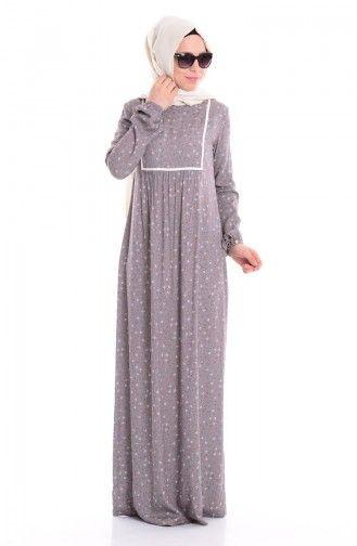 Sefamerve, Büzgülü Biyeli Elbise 2429-02 Siyah