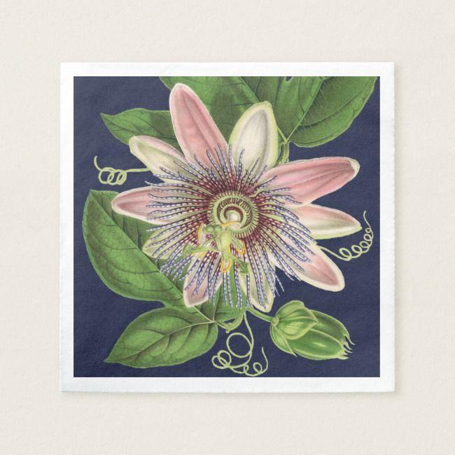 Create Your Own Paper Napkin Zazzle Com Wedding Napkins Wedding Flowers Passion Flower