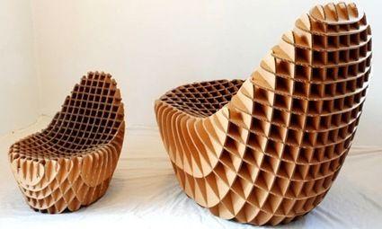 Des meubles en carton recyclé