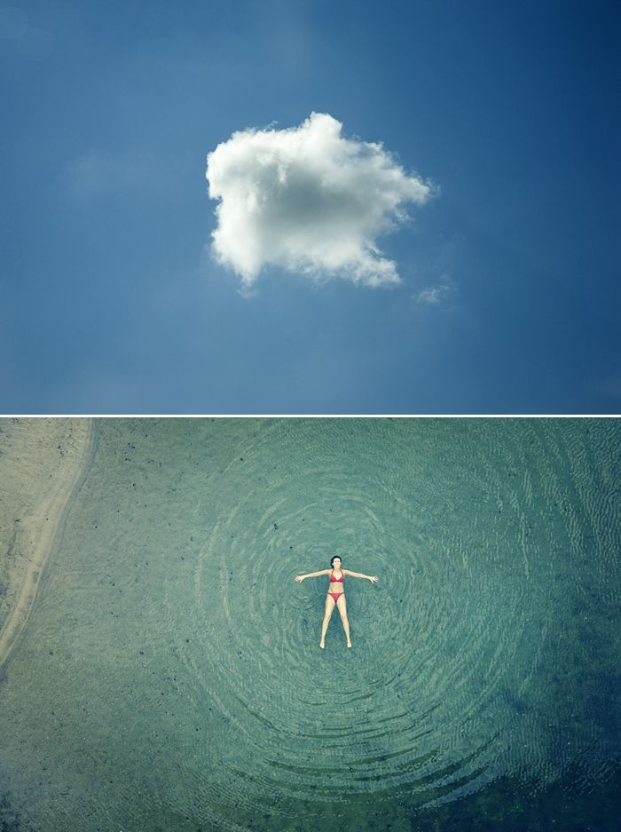 *~* little puffy clouds are my fave! Paired with these overhead images, they are even better! // by Christopher Jonassen // Staring Up at the Clouds - My Modern Metropolis