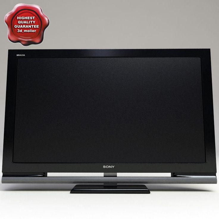 3D Sony Bravia 4500 Tv Model - 3D Model
