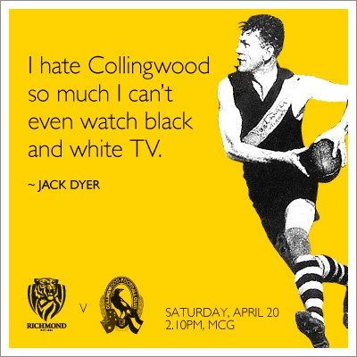 Great by Richmond FC - spark the rivalry! #jackdyer #richvcoll