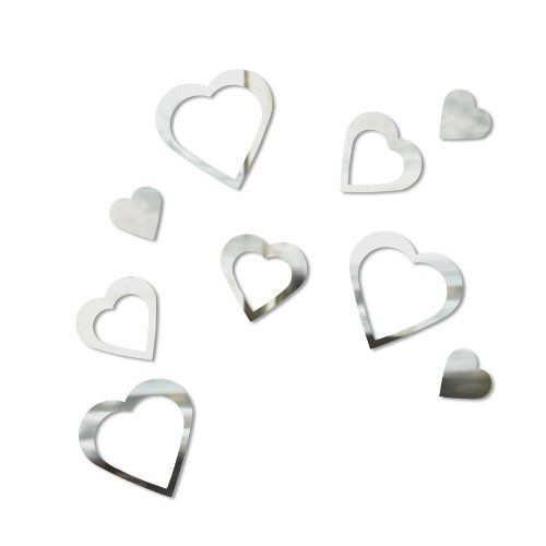 Umbra Pluff Wall Decor Set Of 9 : Umbra hearts wall decor set of by