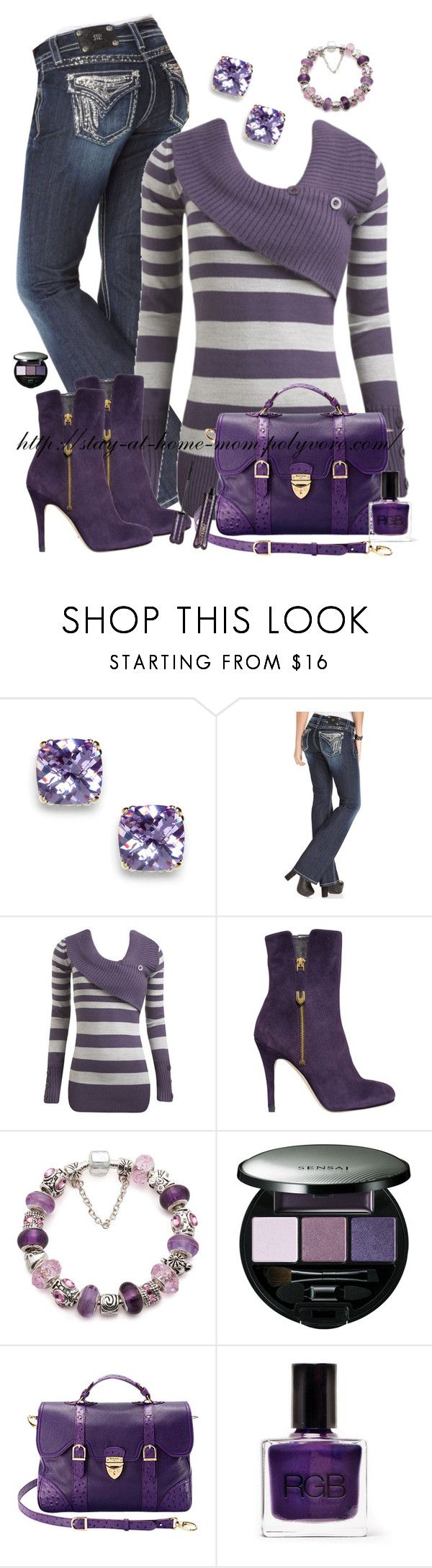 """PURPLE"" by amber-1991 ❤ liked on Polyvore featuring BaubleBar, Miss Me, Wet Seal, Joan & David, Sensai, Aspinal of London and tarte"