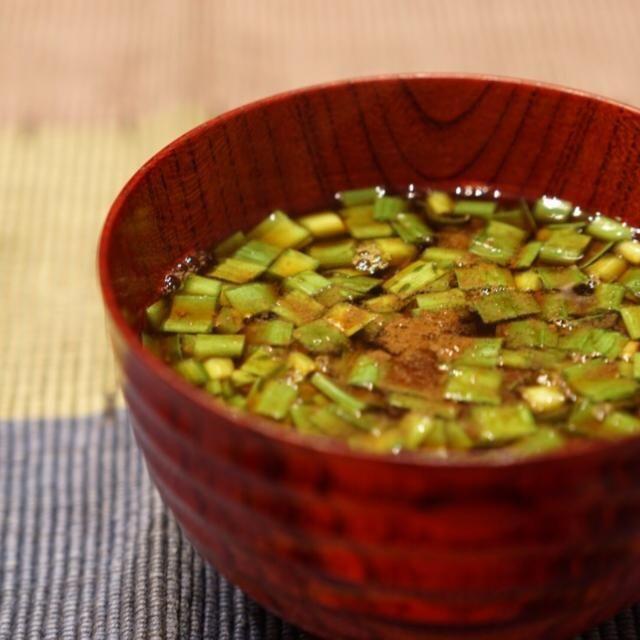 粉山椒をふって♪ - 25件のもぐもぐ - ニラのお味噌汁 by te2ya2ya