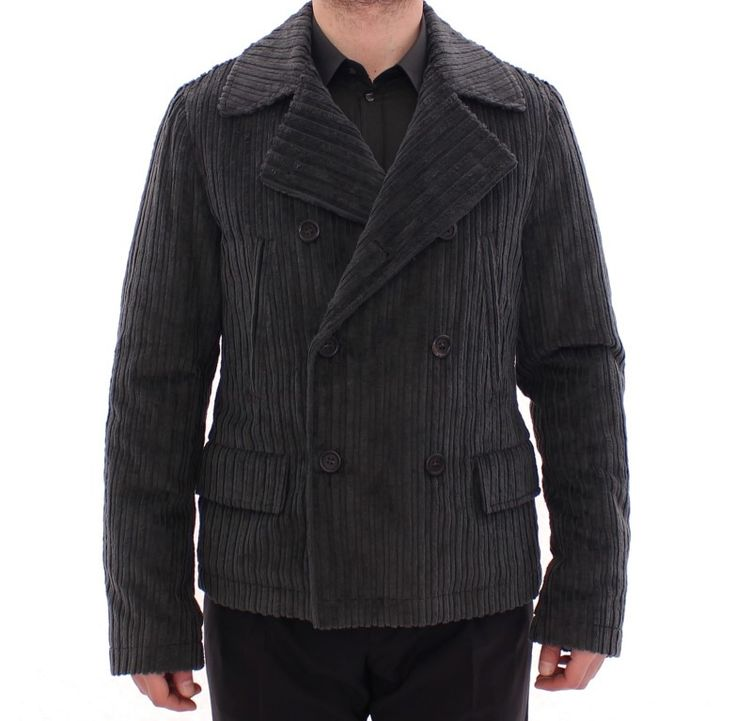 Dolce & Gabbana Black Double Breasted Peacoat Jacket