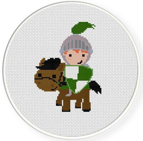 Looking for your next project? You're going to love Knight on Horse Cross Stitch Pattern by designer teamembro3703945. - via @Craftsy