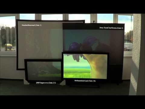 Hellraumleinwände - Tageslicht Beamer Leinwand für kontrastreiche Großbildprojektion bei Restlicht