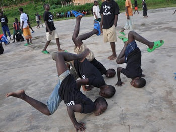 Catalyst Rwanda: a group of former street children in Rwanda learn hip-hop dance. Come and see the show at Africa Utopia, Thursday 19 July