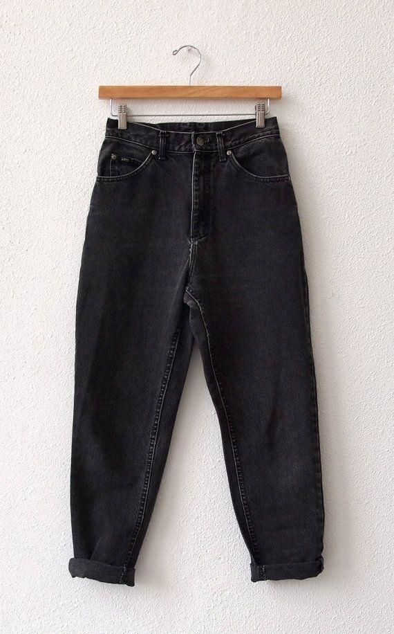 80's Lee black denim boyfriend jeans (SOLD)