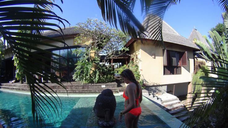 #palmtrees #leafy #bali #aqua #pool #villa