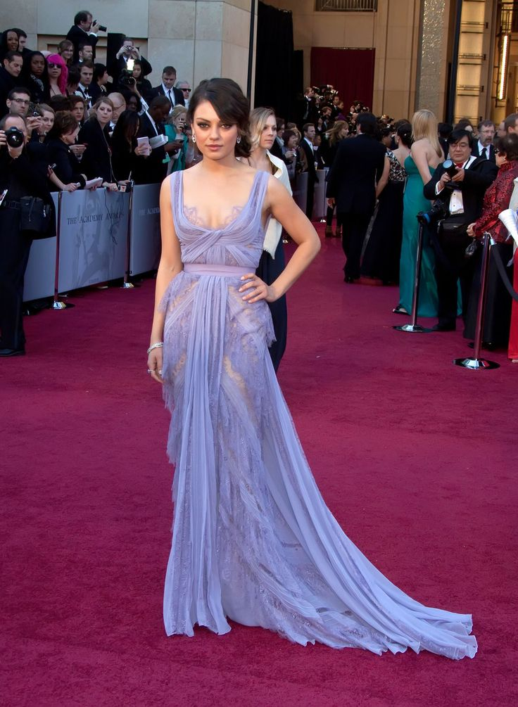 Still my favorite red carpet moment! Mila Kunis in a dreamy chiffon Elie Saab