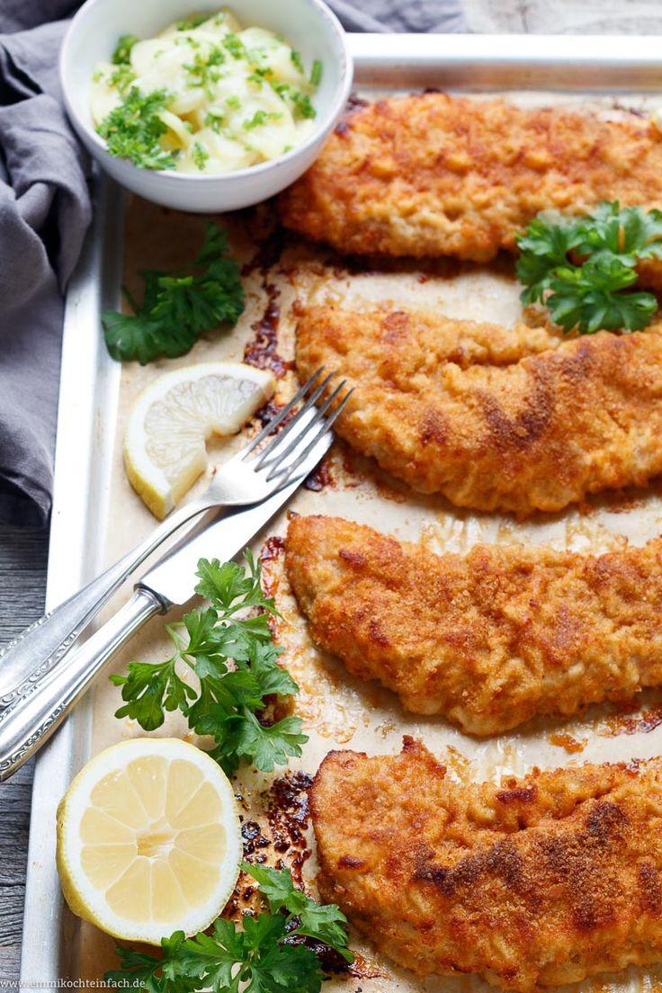 Paniertes Schnitzel aus dem Ofen – www.emmikochtinf …   – SCHNELLE REZEPTE  | fast recipes
