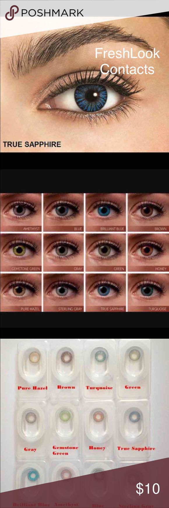 How to order colored contacts online - True Sapphire Contacts One Pair Reusable Bundle And Save 2 Pair 18 3pair 27 Non Prescription Cosmetic Only Condition Brand New Brand Freshlook
