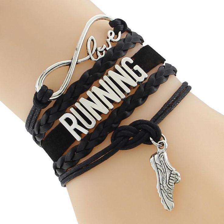 """""""Love RUNNING"""" Infinity Bracelet"""