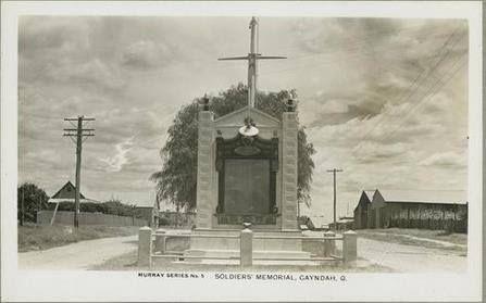 1955, War memorial at Gayndah