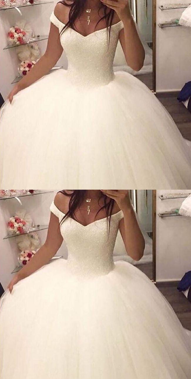 OFF THE SHOULDER BALL GOWN WEDDING DRESSES,BRIDAL GOWN, 2017 BALL GOWN WEDDING DRESSES, DRESSES FOR BRIDAL, ELEGANT PROM DRESSES