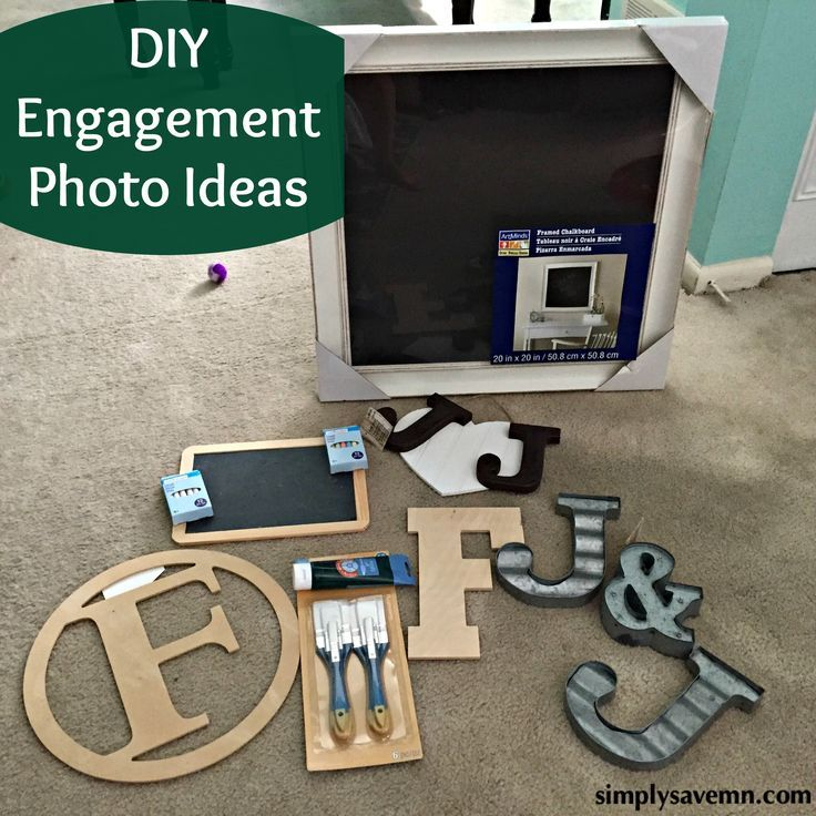 Get crafty with these great DIY ideas for engagement photo props.
